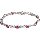 more details on 9ct White Gold Ruby and Diamond Bracelet.
