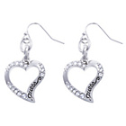 more details on Guess Silver Coloured Hollow Heart Drop Earrings.