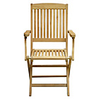 more details on Teak Folding Garden Chair - Set of 2 - Natural.