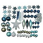 more details on Pack of 75 Christmas Decorations - Blue, Silver and White.