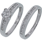 more details on Made For You 18ct White Gold 1.00ct Diamond Ring Set - P