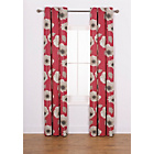 more details on Elissia Poppy Unlined Curtains - 117 x 183cm - Red.