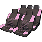 more details on Streetwize Premium Seat Cover Set - Black and Pink