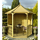 more details on Homewood Pressure Treated Hexagonal Arbour 6 x 7ft.