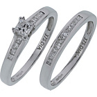 more details on Made For You 9ct Whtie Gold 1/2ct Diamond Bridal Set - P