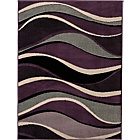 more details on Wave Rug - 160 x 120cm - Plum.