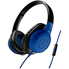 Audio Technica AX1iS Over-Ear Headphones - Blue