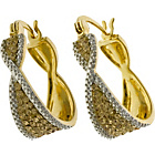 more details on 18ct Gold Plated Silver Champagne CZ Creole Earrings.