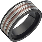 more details on Stainless Steel Black & Copper Coloured Spinner Ring.