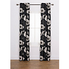 more details on Elissia Poppy Unlined Curtains - 168 x 183cm - Black.