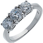 more details on Platinum Plated Silver 1.50ct Look 3 Stone Ring.