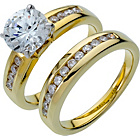 more details on 18ct Gold Plated Silver 2.00ct Look Ring Set.