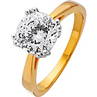 more details on 18ct Gold Plated Silver 2.00ct Look Solitaire Ring.
