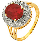 more details on 18ct Gold Plated Silver 3.00ct Look Ruby/Diamond Ring.