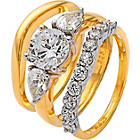 more details on 18ct Gold Plated Silver 2.75ct Look CZ Bridal Set.
