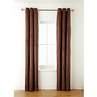 more details on Collection Suedette Lined Curtains-168x137cm-Cappuccino