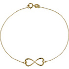 more details on 9ct Gold Infinity Heart Bracelet.