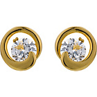 more details on Diamonite 18ct Gold Plated Silver CZ Stud Earrings.