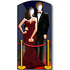 more details on Star Cutouts Red Carpet Hollywood Couple Life-Sized Stand-In