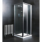 more details on Eliana Nerine 800mm Bi-Fold Shower Enclosure, Tray and Waste