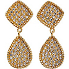 more details on 9ct Gold Plated Sterling Silver CZ Teardrop Earrings.