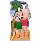 more details on Star Cutouts Hawaiian Couple Life-Sized Stand-In.