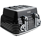more details on De'Longhi 4 Slice Scultura Toaster - Black.