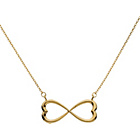 more details on 9ct Gold Infinity Heart Necklet.