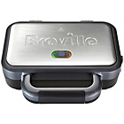 more details on Breville VST041 2 Slice Deep Fill Sandwich Toaster - Silver.