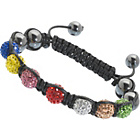 more details on Idolise Ladies' 7 Multi Coloured Crystal Hematite Bracelet.