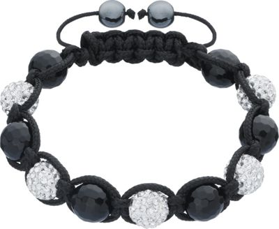 Onyx, Crystal and Hematite Bracelet