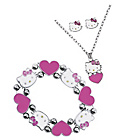 more details on Hello Kitty Pendant, Earring and Stretch Bracelet Set.
