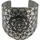 more details on Jessica Flinn Stainless Steel Large Lace Cuff Bangle.