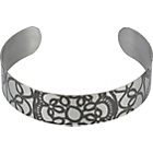 more details on Jessica Flinn Stainless Steel Slim Lace Cuff Bangle.