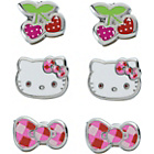 more details on Hello Kitty Sweet Cherry Stud Earrings - Set of 3.