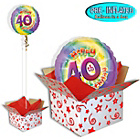more details on Happy 40th Birthday Balloon in a Box.