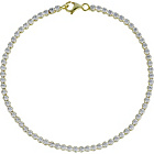 more details on 9ct Gold Plated Sterling Silver Cubic Zirconia Tennis Bracel