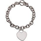 more details on Adoration Sterling Silver Heart Tag T-Bar Bracelet.