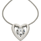 more details on Diamonite 900 Platinum Plated Silver CZ Heart Pendant.