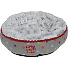 more details on Petface Small Puppy and Kitten Donut Pet Bed -Multicoloured.