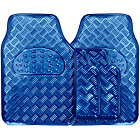 more details on Streetwize 4 Piece Universal Checker Plate Car Mats - Blue.