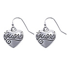 more details on Guess Silver Coloured Puffy Heart Drop Earrings.