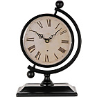 more details on Heart of House Fenchurch Metal Globe Mantel Clock - Black.