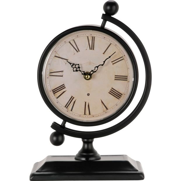 Buy Heart Of House Fenchurch Metal Globe Mantel Clock Black At Your Online Shop