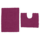 more details on ColourMatch Bath & Pedestal Mat Set - Purple Fizz.
