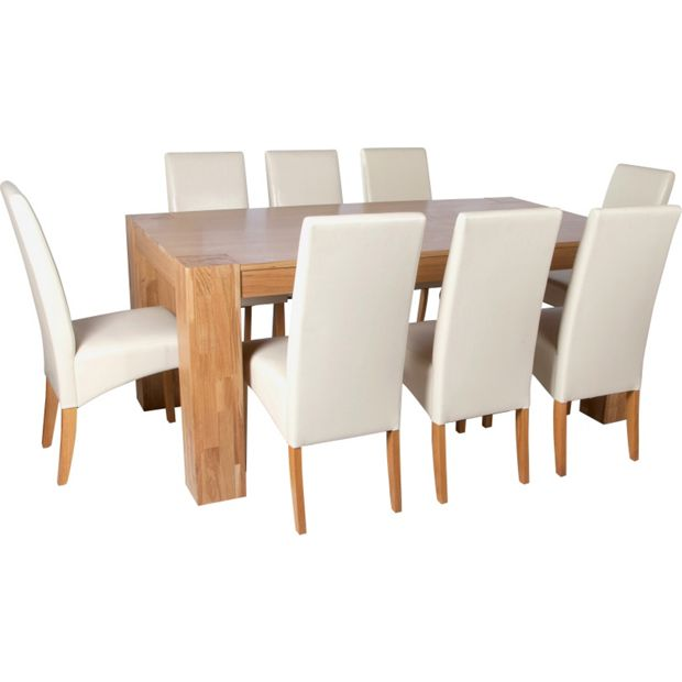 Buy Heart Of House Alston Dining Table And 8 Chairs Oak
