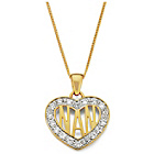 more details on 9ct Gold Plated Silver Cubic Zirconia 'Nan' Heart Pendant.
