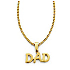 more details on 9ct Gold Plated Silver Dad Pendant.