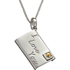 more details on Sterling Silver and 9ct Gold Love Letter Pendant.