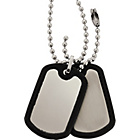 more details on Stainless Steel Rubber Edge Dog Tag Pendant.